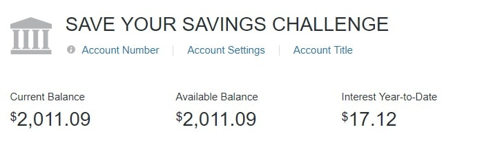 Save Your Savings Challenge results