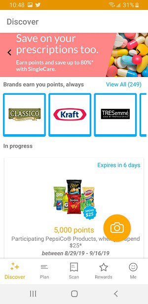 Earn points with 200+ brands using Fetch Rewards
