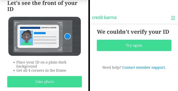Credit Karma Identity Verification with Driver License
