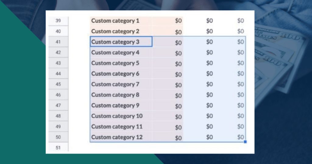 Monthly Budget Template: How to Add Custom Categories
