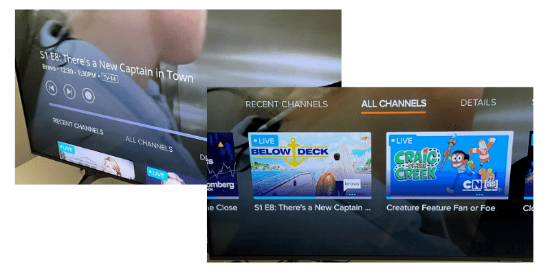 Sling TV playback controls: Pause, rewind and fast-forward live TV, plus mini-guide
